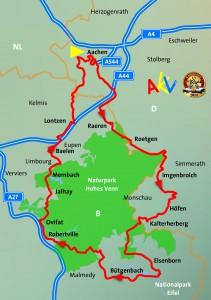 AKV Rallye 2014 Wegstrecke